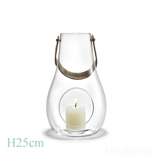 DESIGN WITH LIGHT「ランタン クリア」H25cm