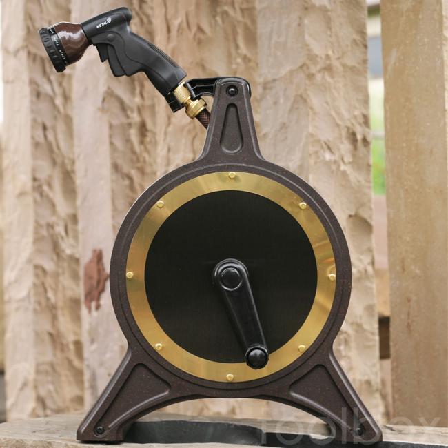 【オリジナルホースリール COSMO Bronze-1 30mコスモブロンズ1 30m】(ブロンズリール BR4-XT30BRPL)おしゃれ 高品質 送料無料 散水 水まき 水やり 洗車 ホースリール 30m 散水ホースかっこいい こだわり 新築祝い(沖縄・離島配送不可)