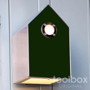 外灯を一層楽しくさせる巣箱型照明 birdhouse light / バードハウスライト(グリーン)屋外照明 外灯 玄関灯