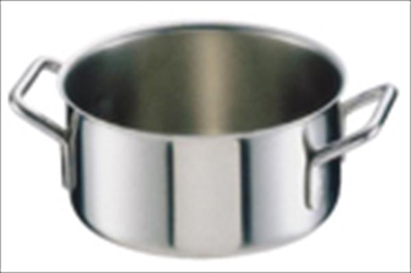 シットラム シットラムイノックス18-10半寸胴鍋 三重底 (蓋無)22B 22 6-0028-0904 AHV09022