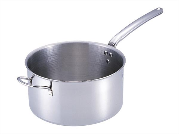 3690-28 deBUYER 18-10プライオリティ [7-0024-0307] 片手深型鍋(蓋無) ASTE408 手付デバイヤー