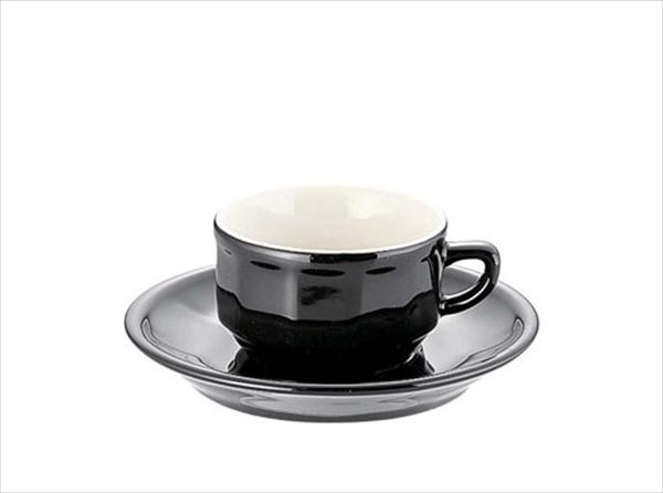 アピルコ フローラ モカカップ&ソーサー(6客入) PTFL M FL ブラック 6-2122-1202 RAP3602