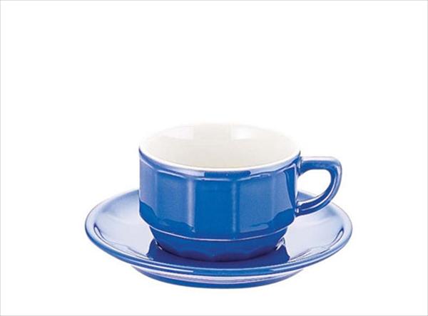 アピルコ フローラティーカップ&ソーサー(6客入) PTFL T FL ブルー No.6-2122-1302 RAP3704