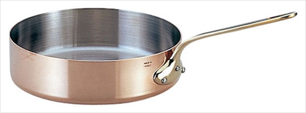 モービル モービルカパーイノックス片手浅型鍋 (蓋無)6523.24 24 6-1673-0303 AKT783