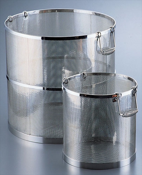 三宝産業 UK18-8パンチング丸型スープ取りざる 42用 6-0406-0303 ASC43042