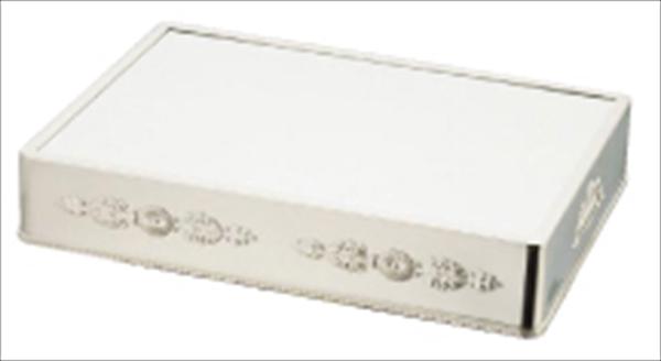三宝産業 UK18-8角ミラープレート 菊模様 18インチ(ブラックアクリル) NML42183 [7-1616-0102]