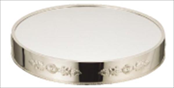 三宝産業 UK18-8丸ミラープレート 菊模様 14インチ(ブラックアクリル) NML44143 [7-1616-0202]