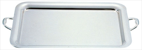 三宝産業 UK18-8プレーンタイプ角盆 26インチ(手付) NKK03026 [7-1617-0105]