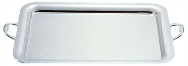 三宝産業 UK18-8プレーンタイプ角盆 28インチ(手付) NKK03028 [7-1617-0106]
