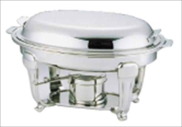 三宝産業 UK18-8スタッキングバロン 小判 チェーフィングデッシュ 24吋 No.6-1445-0703 NTE18024
