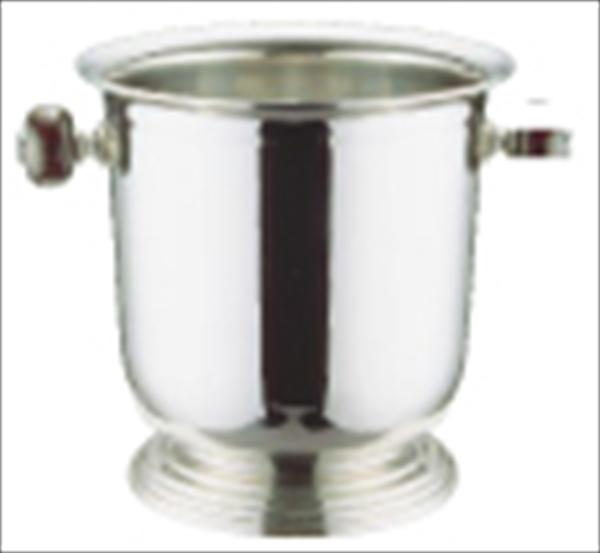 三宝産業 UK18-8バロンシャンパンクーラー台付 L(木柄ハンドル) 6-1721-0301 PSY07001