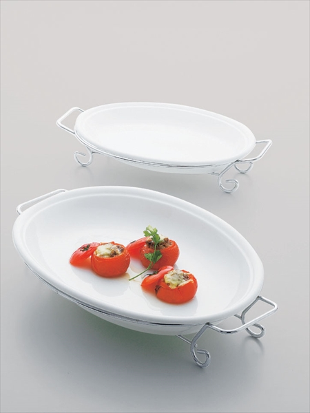 ミヤザキ食器 タント オーバルプラター フレーム付 50 TA0701-H RTA1001 [7-1543-0301]