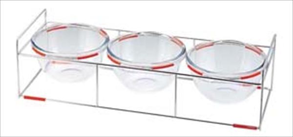 ミヤザキ食器 ワイヤースタンドセット(18ボール付) BQ9909-1803(OR) NWI0202 [7-1544-0502]