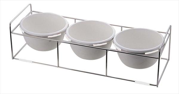 ミヤザキ食器 ワイヤースタンドセット陶器28ボール付 BQ9909-2813(WH) NWI1301 [7-1544-0401]