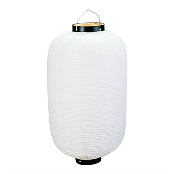 カドキ ビニール提灯長型 《18号》 白ベタ b126 YTY01181M [7-2479-1608]