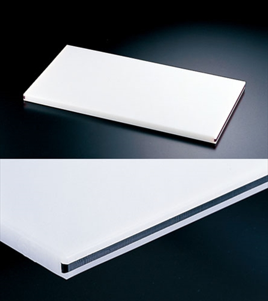 住ベテクノプラスチック 住友 抗菌プラまな板 カラーライン付 黒 20SOL 60×30×H2 6-0330-0314 AMNC214