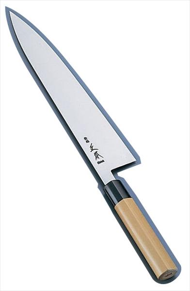 正本総本店 正本 スウェーデン鋼 水牛柄牛刀(両刃) 30 AMSJ903 [7-0292-1303]