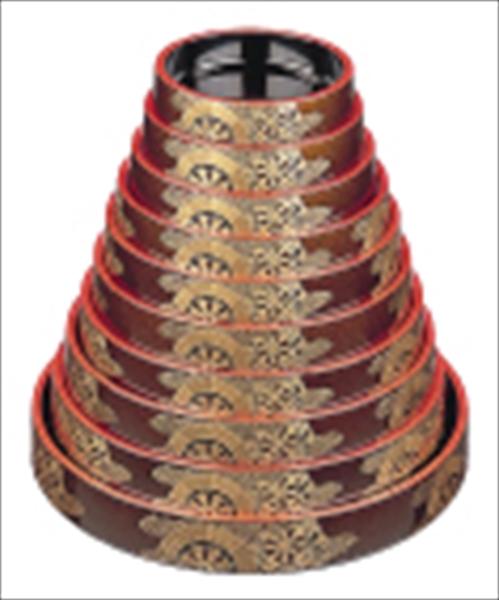 若泉漆器 DX富士型すし桶 梨地御所車 尺7寸 1-478-80 6-1976-0410 ROK1810
