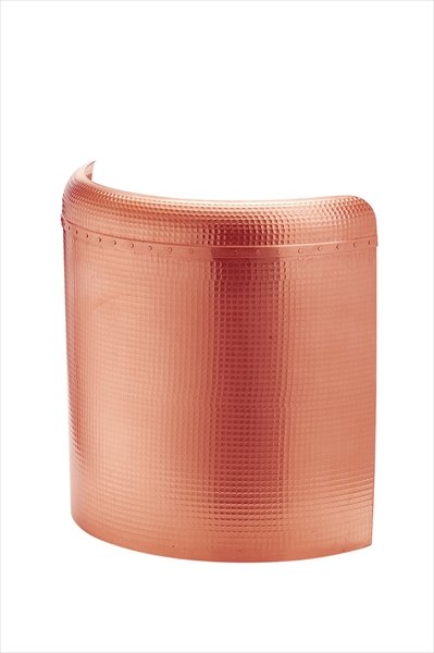 丸新銅器 銅 フード付天ぷら鍋ガード(槌目入り) 60 BTVI703 [7-0405-1203]
