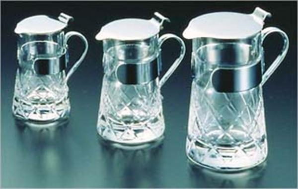 吉沼硝子 ガラス製ミルクピッチャー 矢来 大(6ヶ入) 6-1758-2701 PML44001