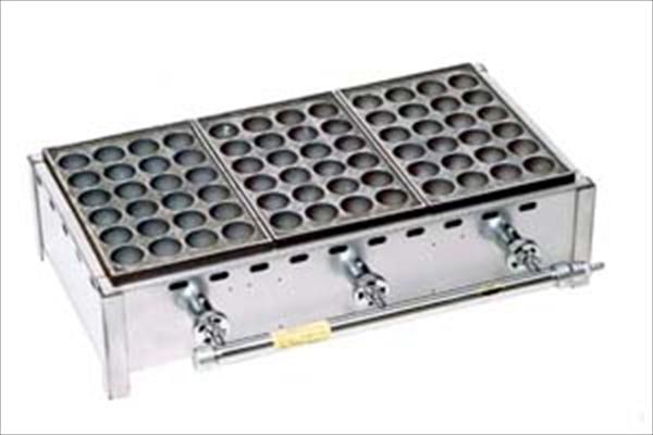 伊藤産業 ガス式 ジャンボたこ焼器(24穴) KQ-24J-6 6枚掛 都市 6-0881-0110 GTK5910