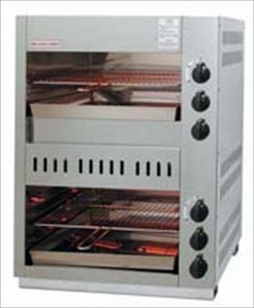 アサヒサンレッド ガス赤外線上火式グリラーダブルタイプ AS-66EX LPガス DGLD401 [7-0706-0401]