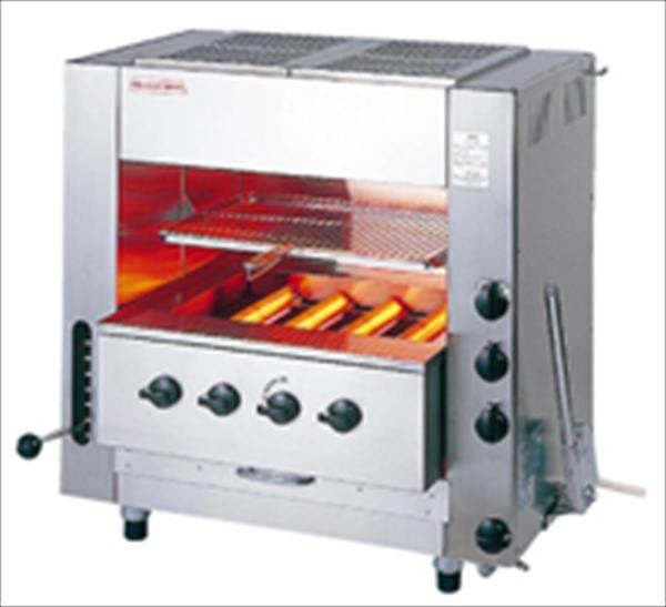 アサヒサンレッド ガス赤外線同時両面焼グリラー ニュー武蔵 SGR-N65(中型)13A No.6-0667-0202 DGL992