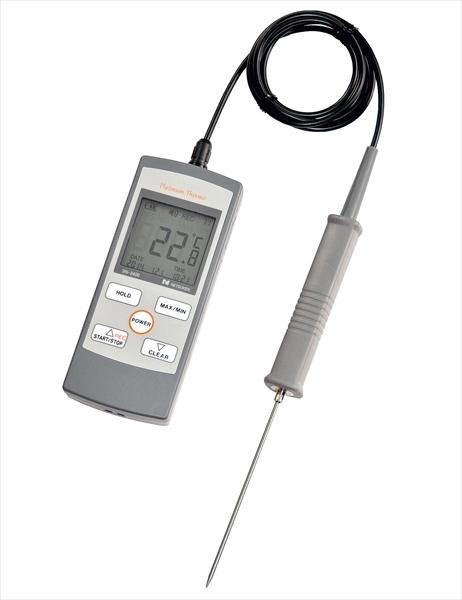熱研 防水ハンディー型白金デジタル温度計 SN-3400 標準センサー付 BOVP6 [7-0578-1201]