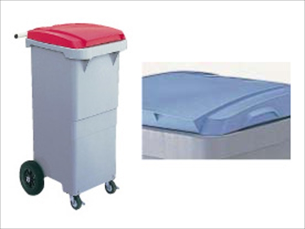 直送品■ セキスイ リサイクルカート #110 搬送型 RCN11H ブルー KKC121 [7-1312-0501]