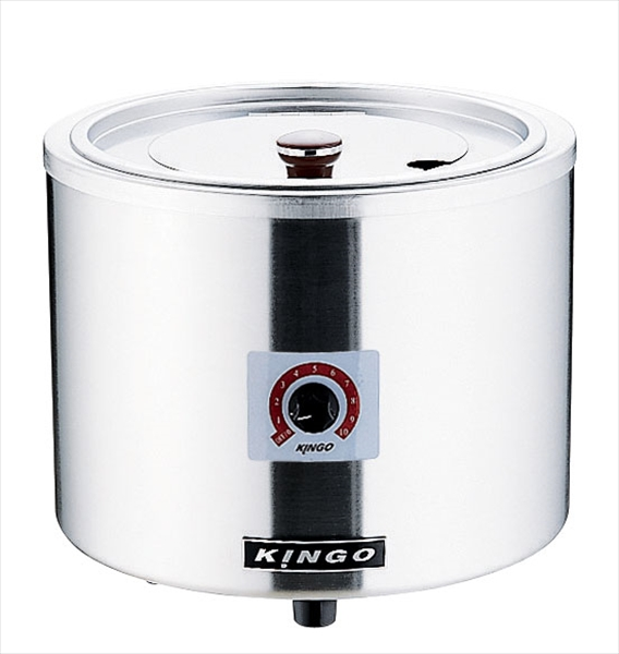 遠藤商事(TKG) KINGO 湯煎式電気スープジャー D9001(中鍋なし) DSC2501 [7-0767-0401]