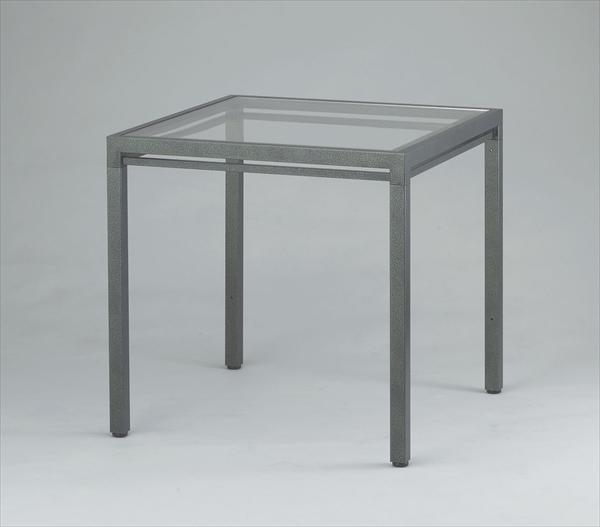 マツヤ キューブテーブル ハンマーシルバー AGC-CT600 No.6-2284-0101 UTCV501