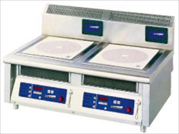 ニチワ電機 電磁調理器2連卓上タイプ MIR-1033TA No.6-0643-0401 DDV03033