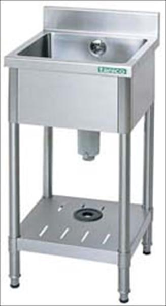 タニコー 18-0一槽シンク (バックガード付) TX-1S-90 6-0701-0604 DSV3502
