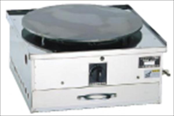 猪狩製作所 ガス式クレープ焼台 EK-1型(一連) LPガス 6-0864-0601 GKL171