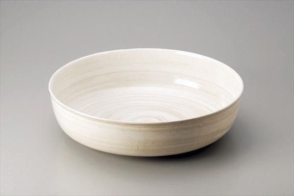 遠藤商事 アルミ電磁用深型ドラ鉢 白刷毛目 尺2 6-1501-1802 NDL0402
