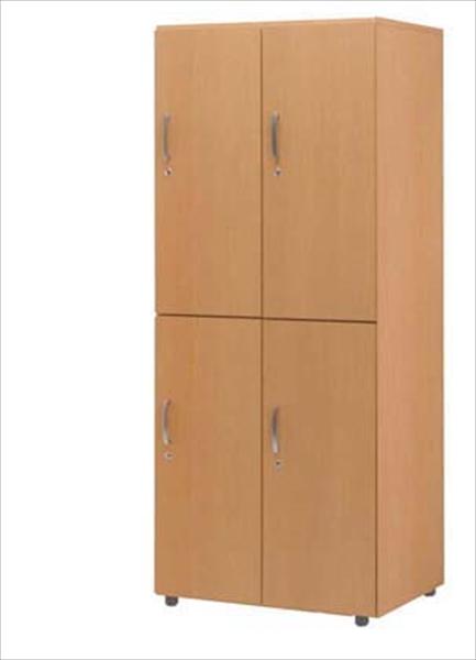 ハイテクウッドインテリア関東営 木製フリージョイントロッカー (ナチュラル) 2段4人用 No.6-1316-1105 ZLT1205