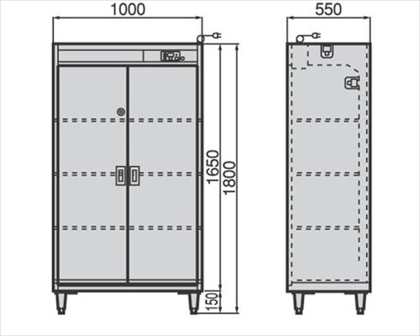 直送品■フジマック クリーンロッカー(靴用) FSCR1055S SKL1802 [7-1376-0202]