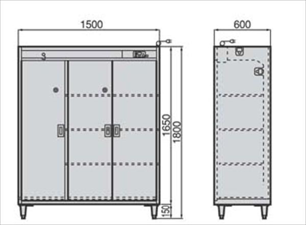 直送品■フジマック クリーンロッカー(靴・衣類用) FSCR1560 SKL1901 [7-1376-0301]