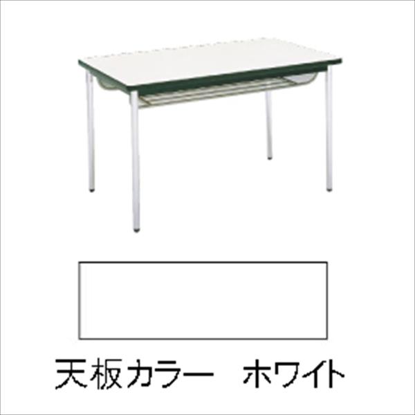 直送品■勝亦商店 テーブル(棚付) MT2712 (C)ホワイト UTC9906 [7-2409-0906]
