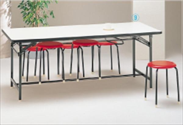 勝亦商店 食堂用テーブル ソフトエッジ巻 DY1875S 6-2281-0701 UTCG5