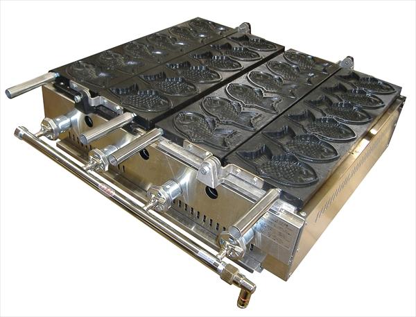 カジワラキッチンサプライ ガス式たい焼機 KGT-1(6ヶ取)都市ガス 6-0884-0102 GTI3002