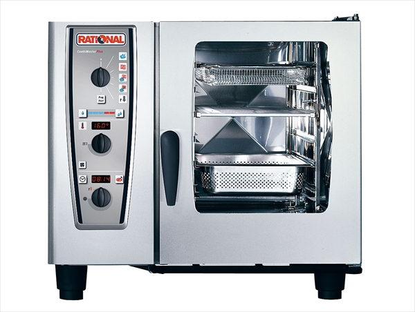 直送品■ラショナル・ジャパン 電気式スチームコンベクションオーブン コンビマスタープラスCMP61 DOC9301 [7-0669-0201]