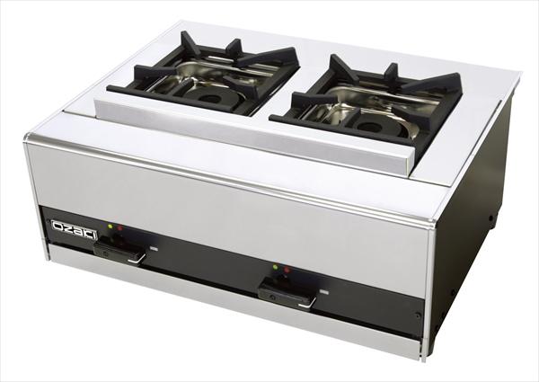 遠藤商事 ガス テーブルコンロ(立消安全装置付) OZ60KLR 都市ガス 6-0637-1202 DKV8702