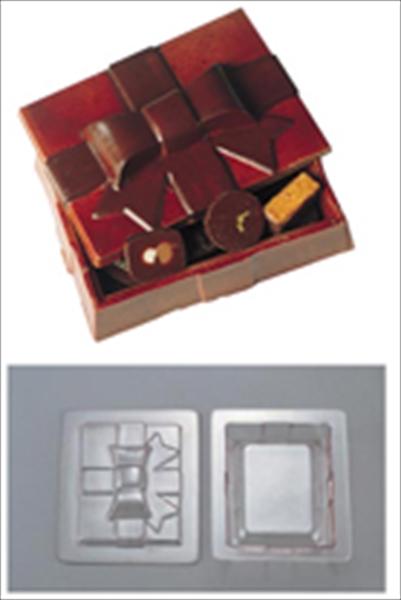 デコ・レリーフ デコレリーフ チョコレートモルド ボックス型   EU-648 WTY78 [7-0989-0301]