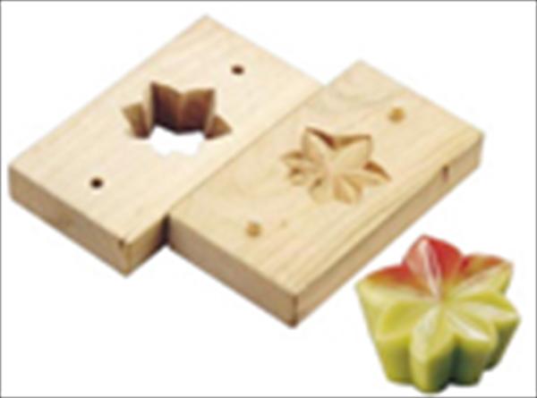 遠藤商事 手彫物相型(上生菓子用) 紅葉  6-1042-1701 WBT27