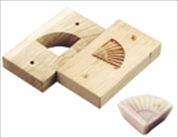 遠藤商事(TKG) 手彫物相型(上生菓子用) 扇  WBT30 [7-1092-2001]