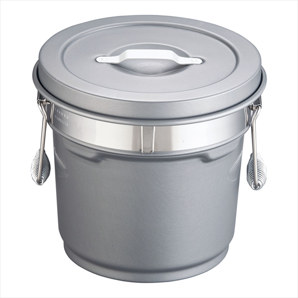 オオイ金属 段付二重食缶(内外超硬質ハードコート) 246-H (8l) ASY58246 [7-0186-0102]