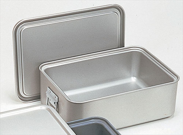 オオイ金属 アルマイト 角型二重米飯缶 (蓋付) 264-D No.6-0147-0502 ABI102