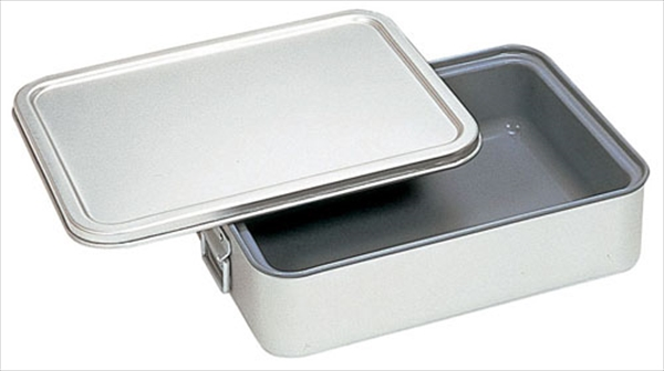 オオイ金属 アルマイト 角型二重米飯缶 (蓋付) (内面スミフロン)264-DS 6-0147-0402 ABI112