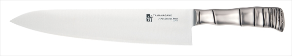 片岡製作所 タマハガネ 竹 牛刀(両刃) TK-1102 30 6-0299-0405 ATM4205